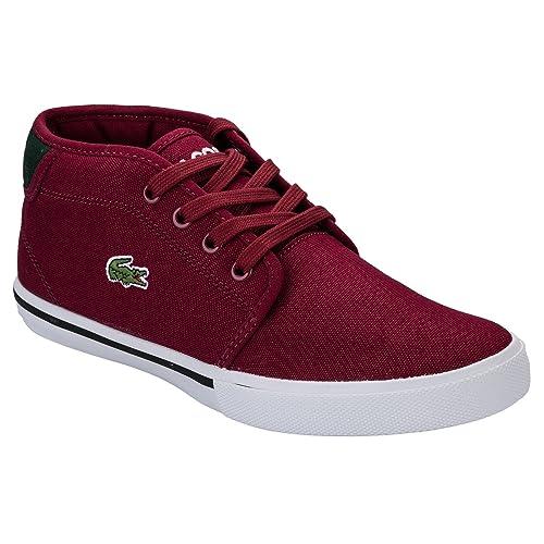 Lacoste - Zapatillas para niño Rojo Rojo: Amazon.es: Zapatos y complementos
