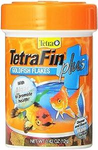 Tetra 77244 TetraFin PLUS Goldfish Flakes, 0.42-Ounce, 85 ml