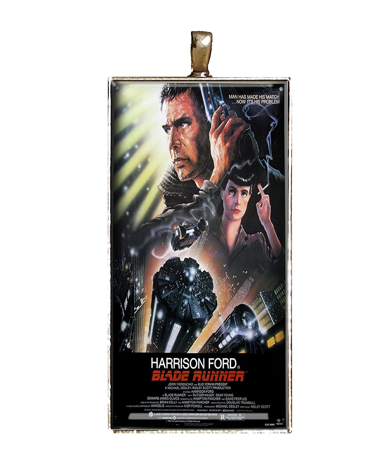Blade Runner necklace handmade Classic Movie poster necklace jewelry gift pendant charm