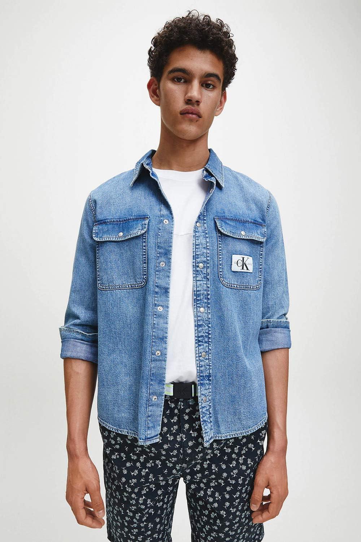 Calvin Klein Archive Regular - Camiseta vaquera (talla XS), color azul: Amazon.es: Deportes y aire libre