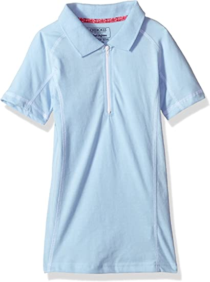 Cherokee Girls Uniform-Jersey Polo with Zip Plaquet
