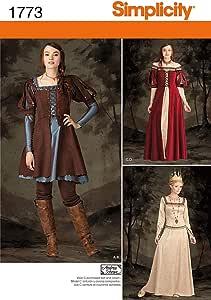 Tallas 34 a 42 Patrones para Vestidos hist/óricos de Chica Simplicity 1773.H5 6