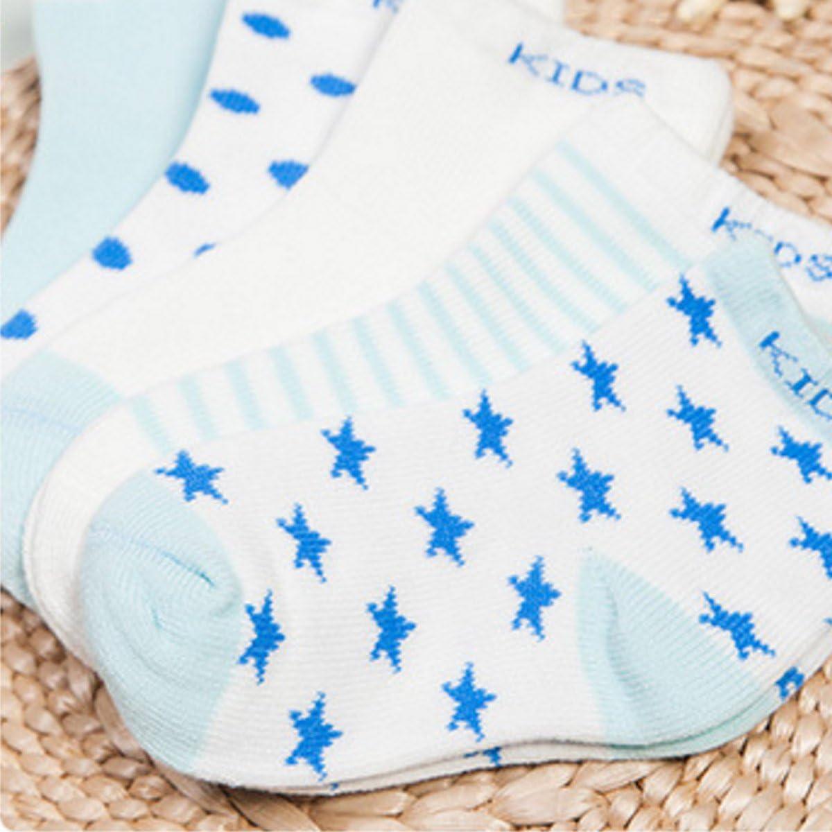 1-12 Jahre Alt Lieblich Kinder Socken Weich Warm Babysocken in verschiedenen Farben Happy Cherry M/ädchen und Jungen 5 Paar Baumwolle Socken