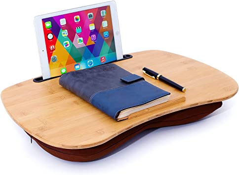 2 IN 1 Laptop Tray Lap Desk Cushioned Portable Computer Reading Writing Table