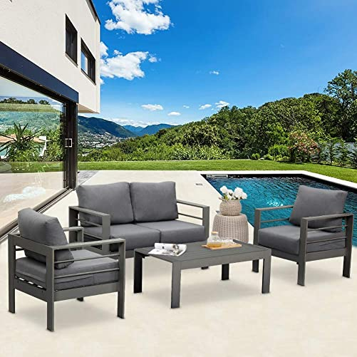 Solaste Outdoor Aluminum Furniture Set