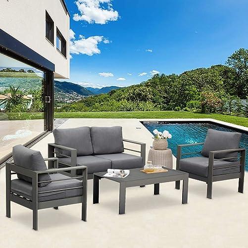 Solaste Outdoor Aluminum Furniture Set