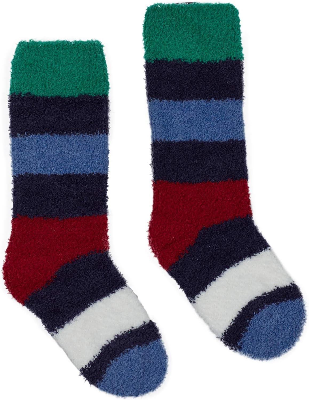 Navy Stripe Joules Fluffy Girls Fluffy Sock