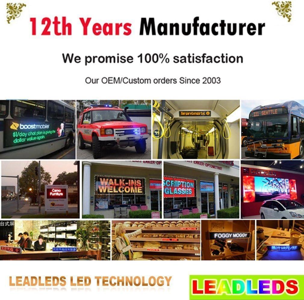 Amazon.com: LED Scrolling LED Publicidad Junta. Tamaño 1020 ...