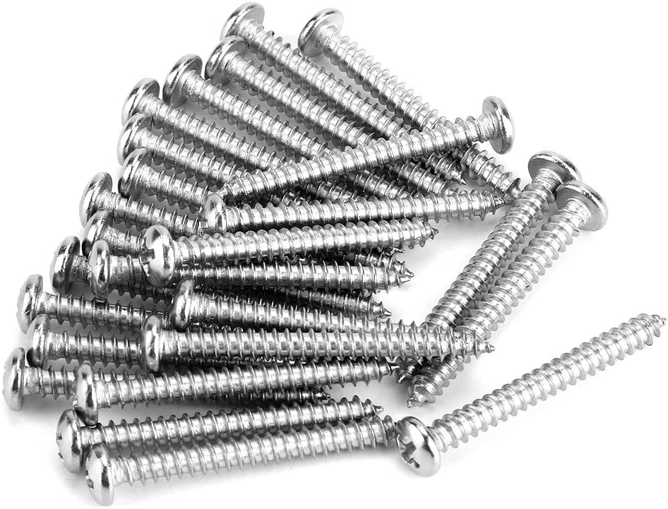 200Pcs M4 Vis Autotaraudeuses en Acier Inoxydable Kit Vis Autotaraudeuses /à T/ête Cylindrique /à Empreinte Cruciforme M4 x 8//10//12//16//20//25//30//35mm