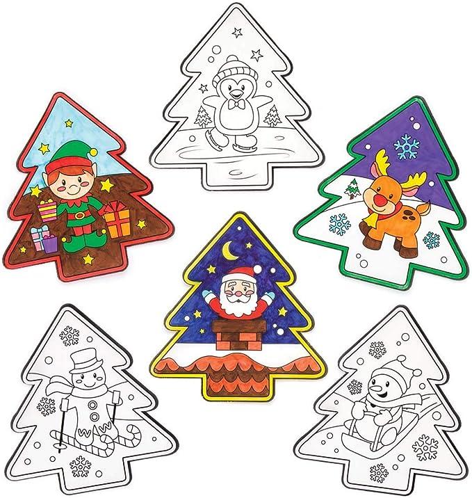 Baker Ross Adornos con Motivos navideños para Colorear y Colocar ...