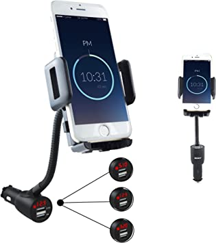 SOAIY® Mezcla entre soporte smartphone y cargador de coche y ...
