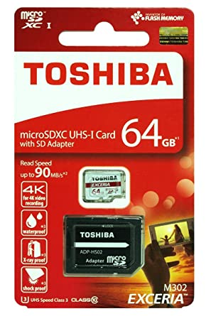 Amazon.com: Toshiba 64 GB 64 G EXCERIA M307 con adaptador ...