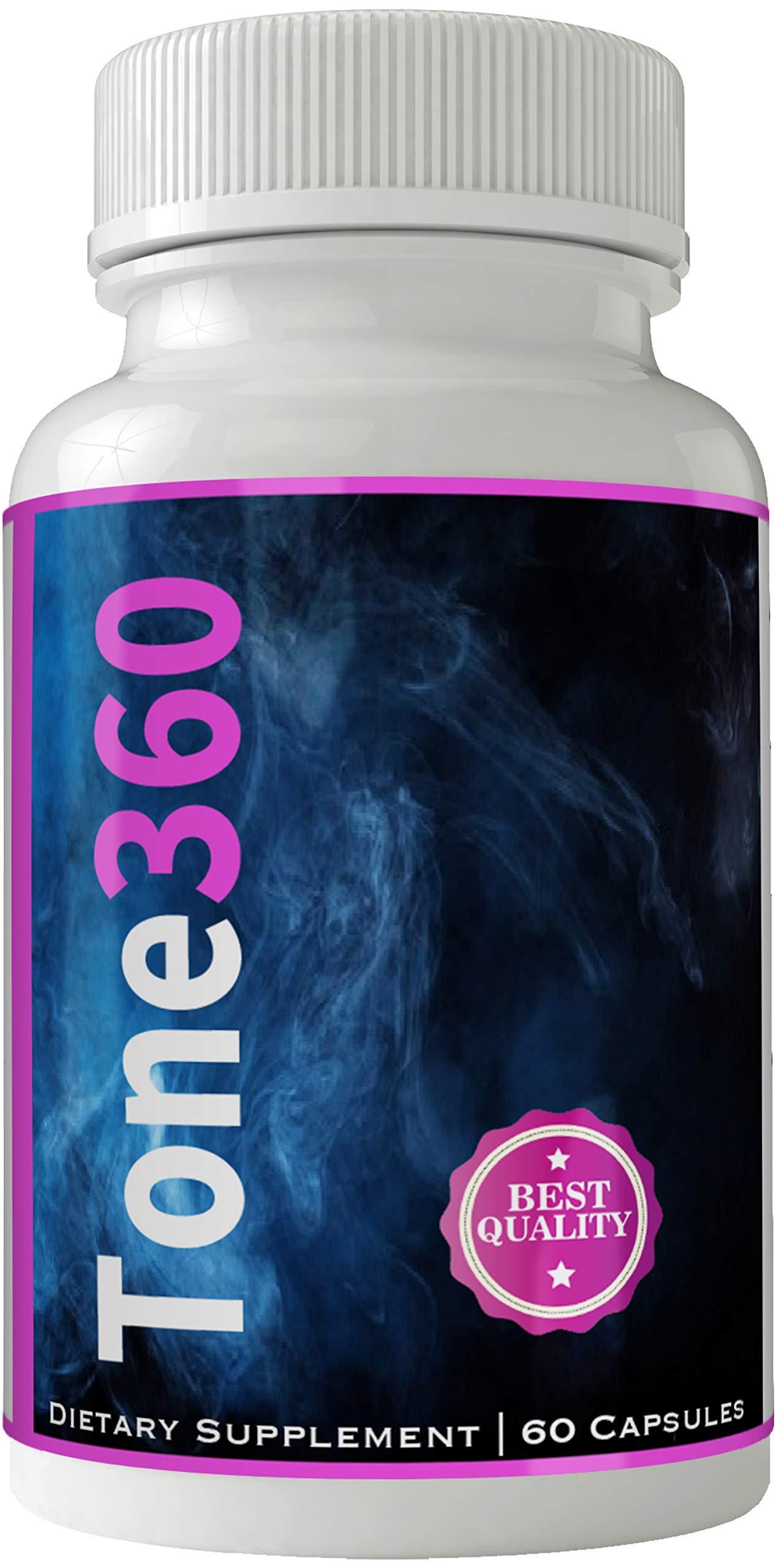 Tone 360 Fat Burner Quemador de Grasa Pastillas para Bajar de Peso | Weight Loss Pills | Loose Weight Capsulas with Garcinia by nutra4health LLC (Image #1)