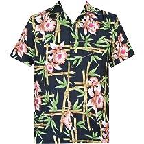 ALVISH - Camisas hawaianas de flamenco rosa para hombre, para playa, fiesta, casual, acampada, manga corta, crucero - Negro - Medium: Amazon.es: Ropa y accesorios