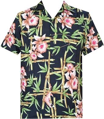 ALVISH - Camisas hawaianas de flamenco rosa para hombre, para playa, fiesta, casual, acampada, manga corta, crucero - Negro - 3X-Large: Amazon.es: Ropa y accesorios