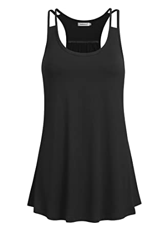 d5d845dc4f Helloacc Women Tank Tops Loose Fit,Round Neck Summer Activewear Tank Tops  No Built in