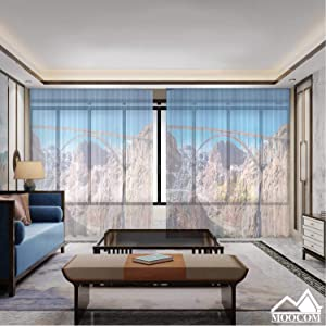 MOOCOM Mike ocallaghanu2013pat Tillman Memorial Bridge Between Nevada and Arizona in Front of The Hoover Dam,Living Room Curtains Blackout Bedroom Curtains Sheer 118'' W x 106'' H