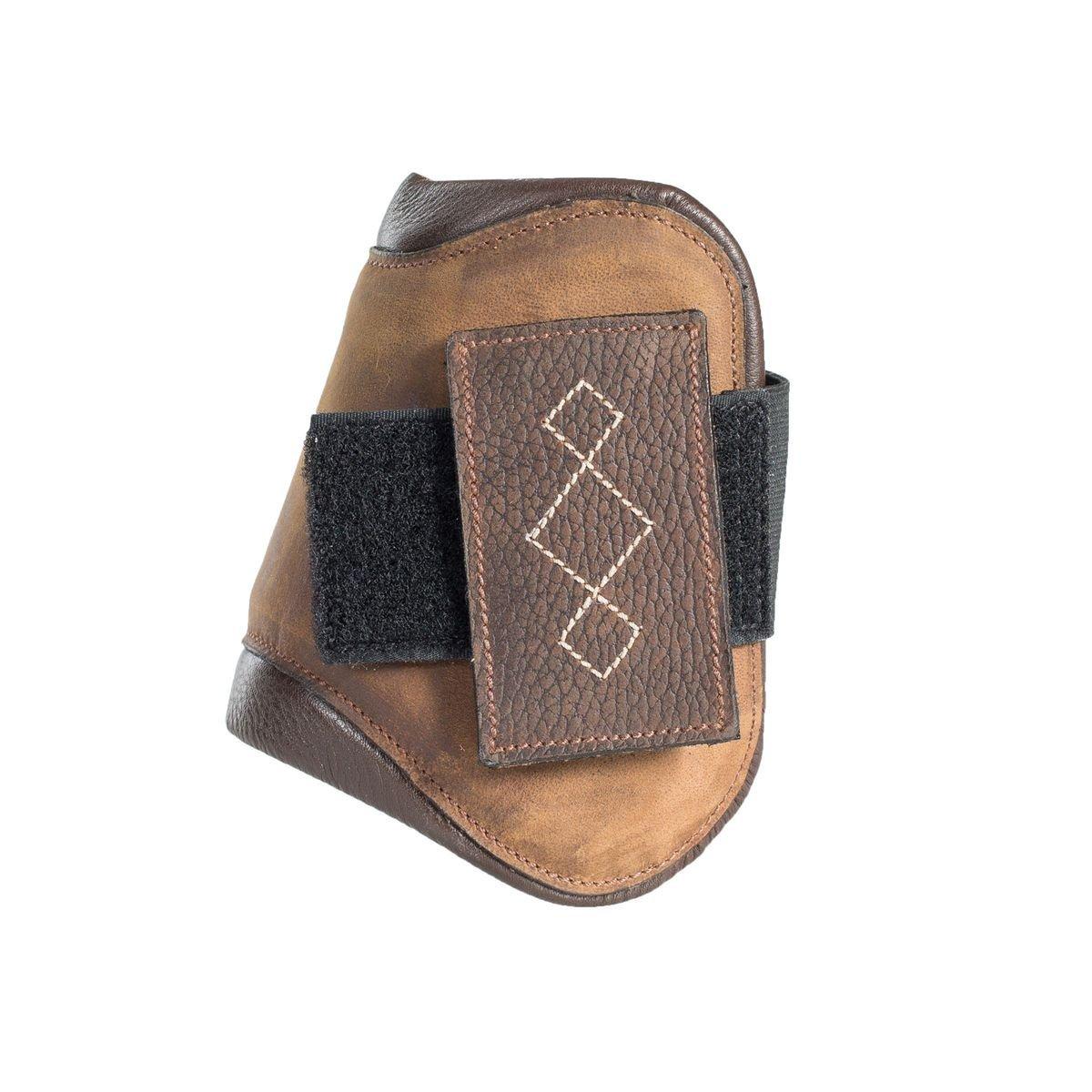 Horze Supreme Sparta Fetlock Boots, Dark Brown Full