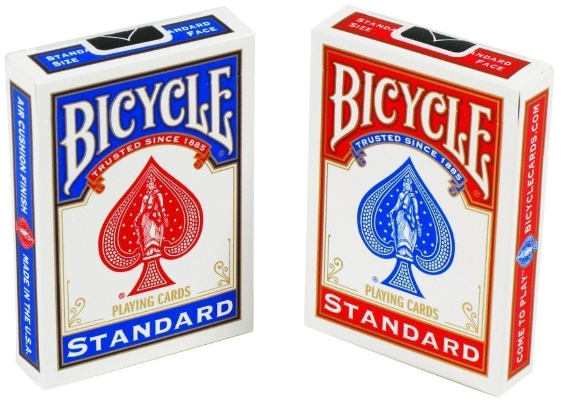 Bicycle Standard Face, Playing Cards Deck, 18 Packs (Red & Blue Color) by Bicycle (Image #2)