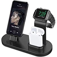 OLEBR 3 in 1 Charging Stand for iWatch, AirPods & iPhone (Original Charger & Cables Required)