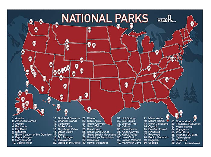 Top 10 Us National Park Refrigerator Magnets
