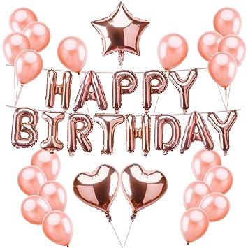 M MOOHAM Happy Birthday Balloons With Pump
