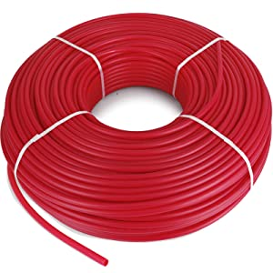"Happybuy Oxygen O2 Barrier PEX Tubing - 1/2 Inch x 1000 Feet PEX Tube Coil - EVOH PEX-B Pipe for Residential Commercial Radiant Floor Heating Pex Pipe (1/2"" O2-Barrier, 1000Ft/Red)"