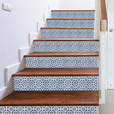 Amazon.com: 3D Simulation Stair Stickers Waterproof Wall Stickers DIY Home  Decor Mallcat Stairs Wall Stickers 18x100cm: Kitchen U0026 Dining