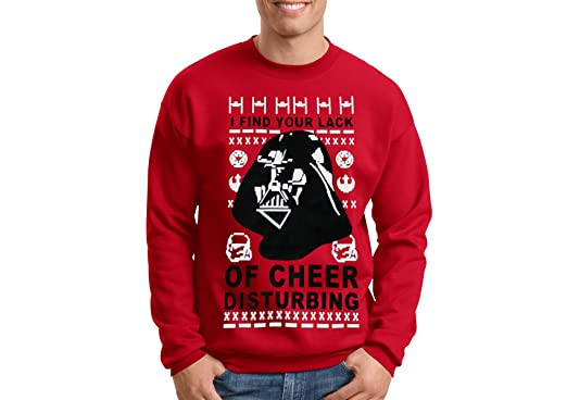 Star Wars Ugly Christmas Sweater Darth Vader Red I Find Your Lack ...