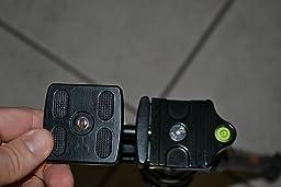 Treppiedi per fotocamera/videocamera in Lega di Alluminio-Magnesio con Testa a Sfera - K&F Concept