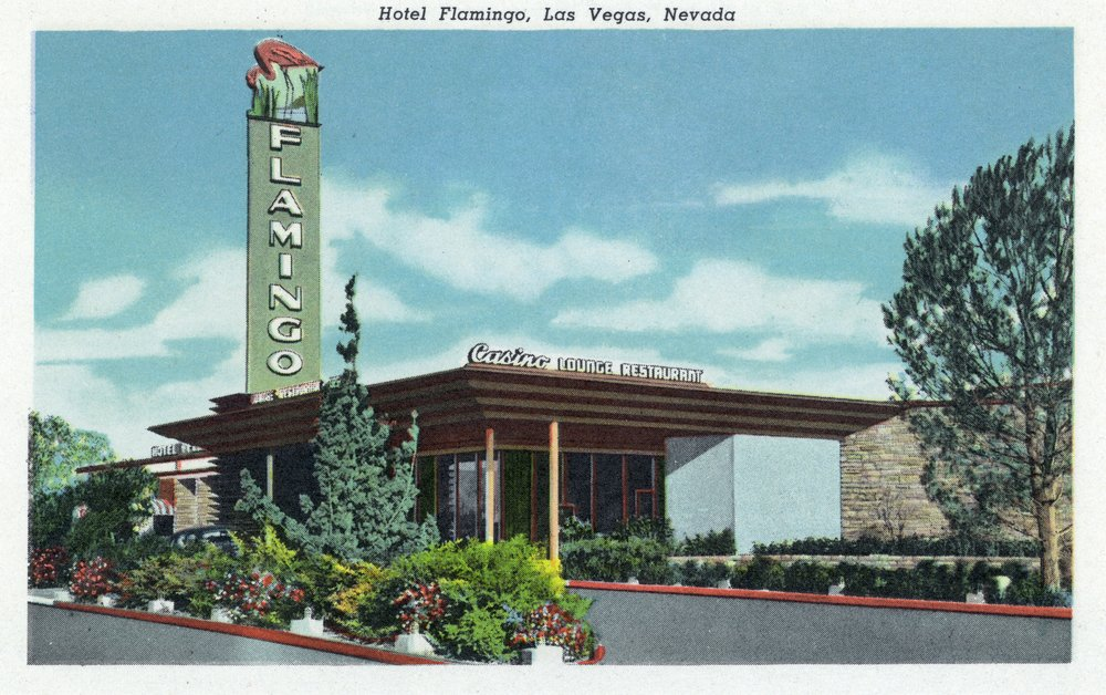 Las Vegas, Nevada - Exterior View of the Hotel Flamingo (9x12 Art Print, Wall Decor Travel Poster)