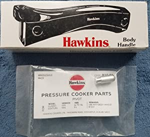 Hawkins Pressure Cooker Body Handle Set with PIVOT, Stud and Screws (with PIVOT)