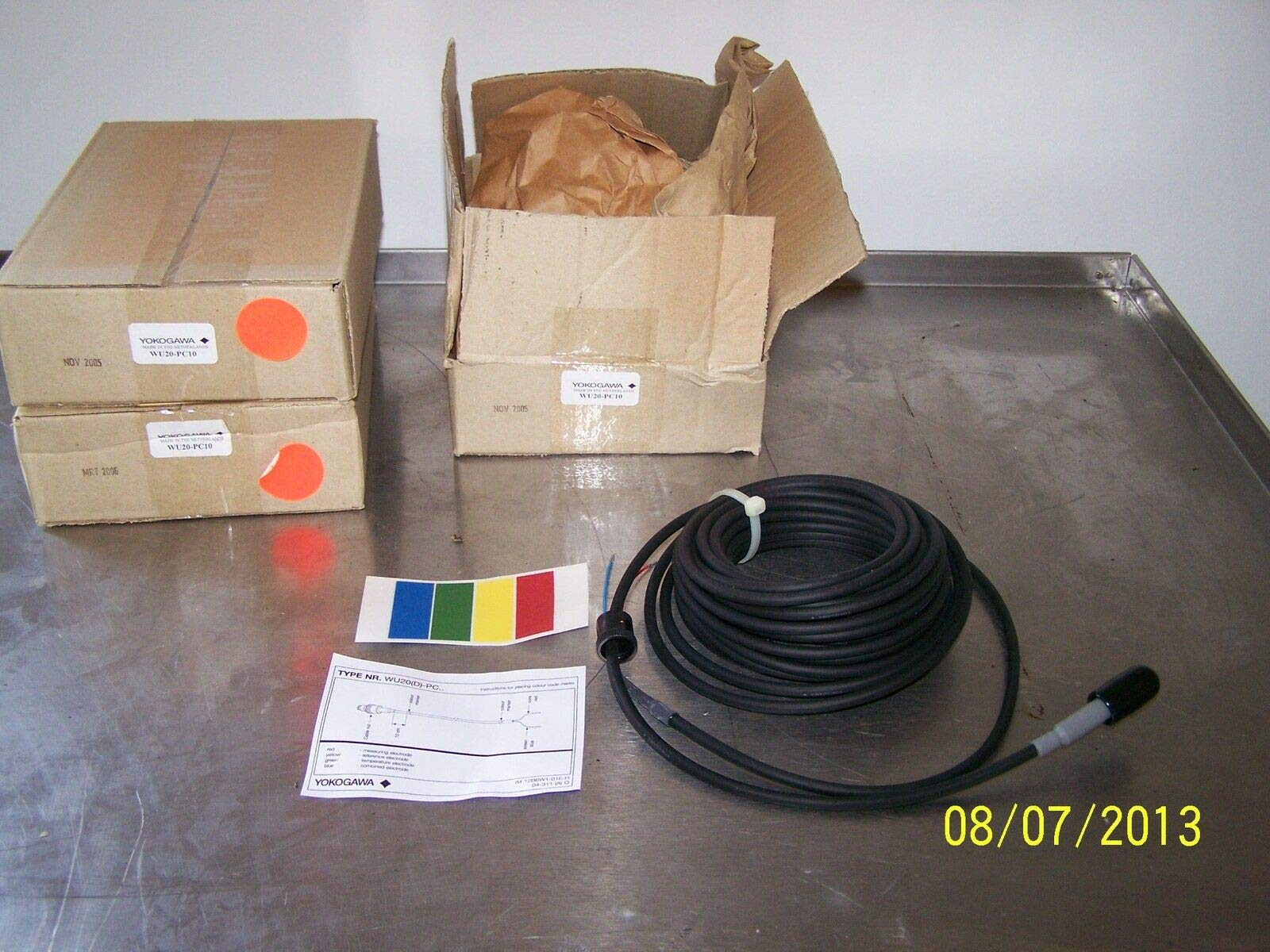 labtechsales Yokogawa WU20-PC10 Coax Cable PH for Single Electrode 10 Meter by labtechsales