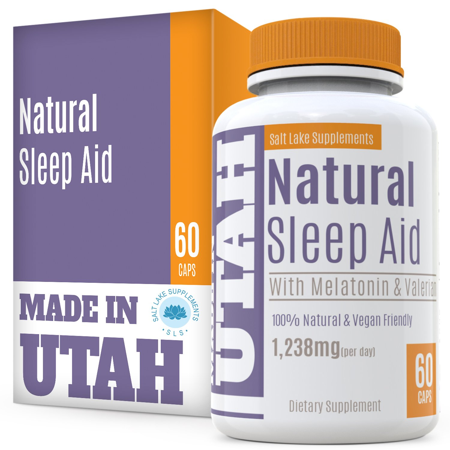Natural Sleep Aid Is An All-Natural Sleep Formula That Combines Melatonin, Valerian Root And Non-Addictive Extracts Into the Best 100% Safe Sleeping Pill To Get a Full Night's Rest