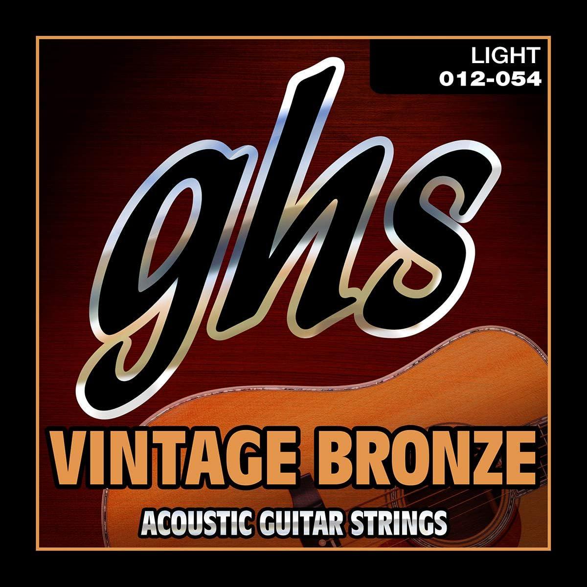 GHS VNL 12-54 Luz Vintage Bronce Acoustic Set Cuerda