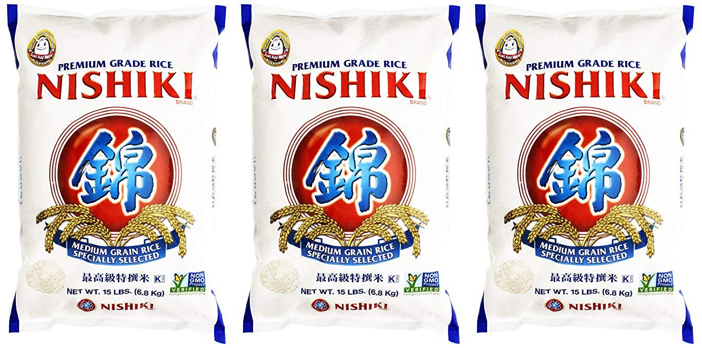 Nishiki Premium Rice, Medium Grain (3 Pack)