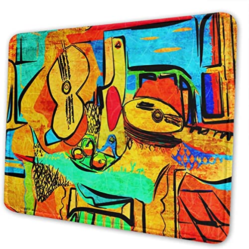 Picasso Mouse Pad with Stitched Edge, Pr…