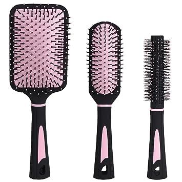 Amazon.com: NVTED - Juego de 3 cepillos de pelo, base de ...
