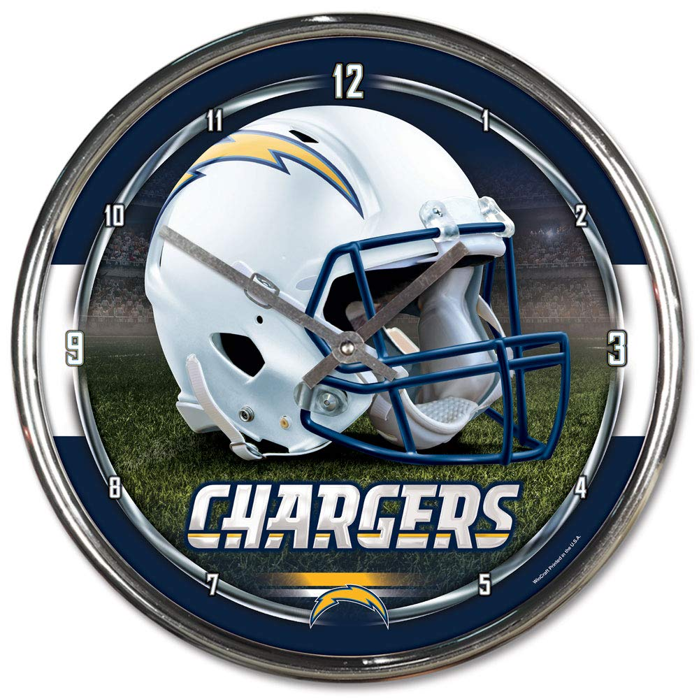 NFL San Diego Chargers Chrome Clock, 12'' x 12'' by WinCraft