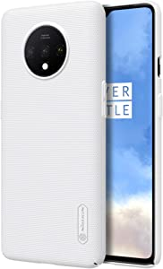 Oneplus 7T Case, Nillkin Frosted Shield Hard Slim Case Back Cover for Oneplus 7T - White