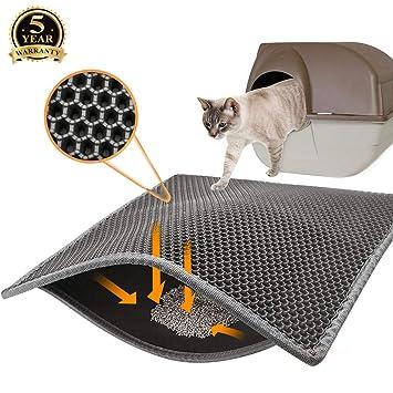 Amazon.com: Covos - Alfombra de arena para gatos, doble capa ...