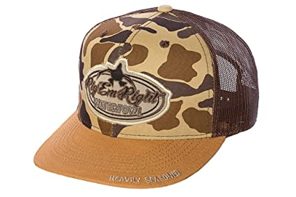Amazon.com  Rig Em Right Waterfowl Trucker Hat - Vintage Camo and ... 352fd08843b