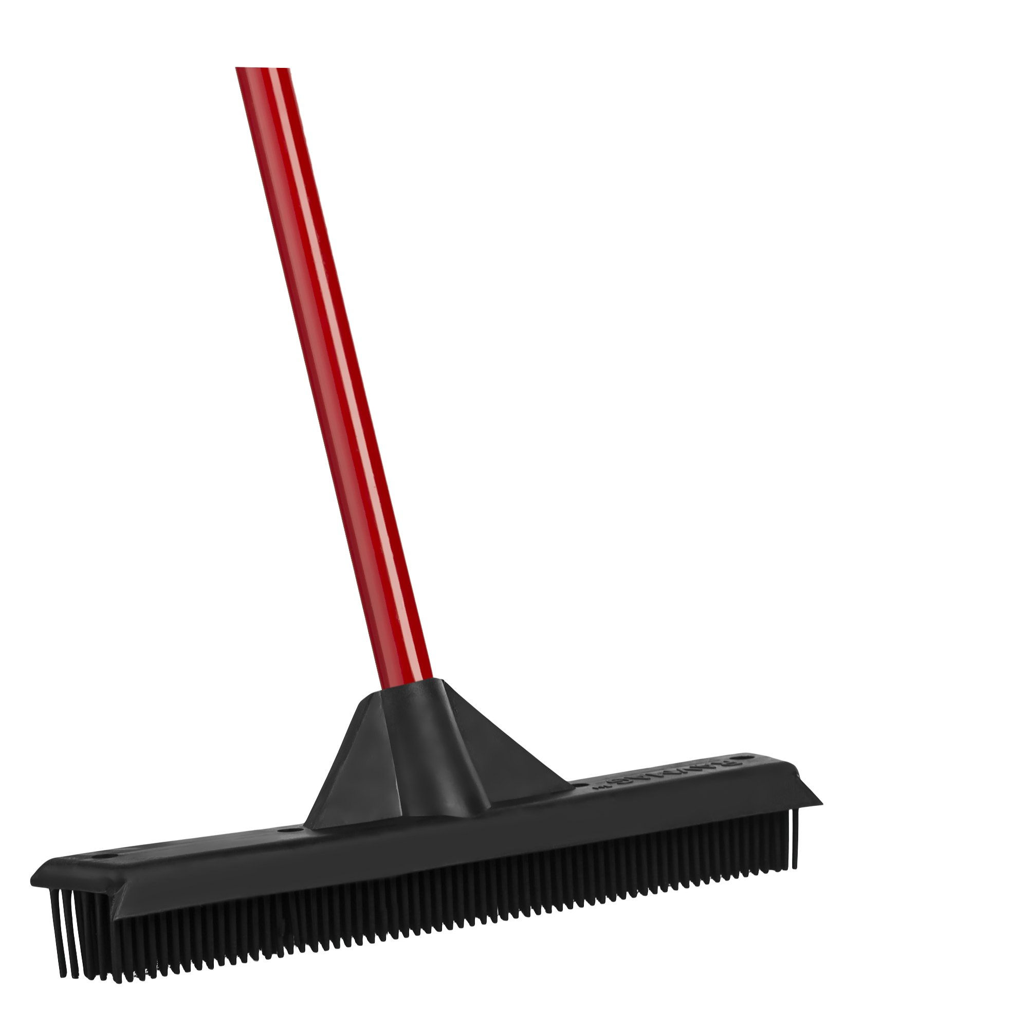 RAVMAG Rubber Broom & Squeegee – Design, Natural Rubber Bristles. For Pet & Human Hair – For Indoor & Outdoor Use. Cleans Carpets, Hardwood Floors, Decks & windows. Water Resistant.