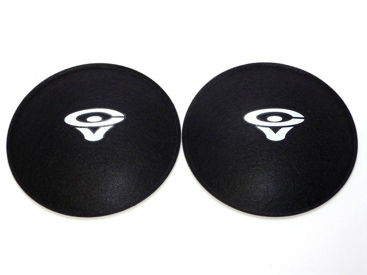2 Cerwin Vega 4.5'' Felt Logo Dust Caps