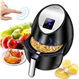 Electric Air Fryer, Blusmart Power Air Frying Technology with Temperature and Time Control LED Display 3.4Qt/3.2L 1400W Fry Basket