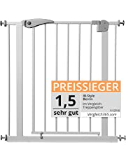 ib style® Berrin Treppengitter 67-175 I Auto-Close I 90°Stop I Einhand-Bedienung