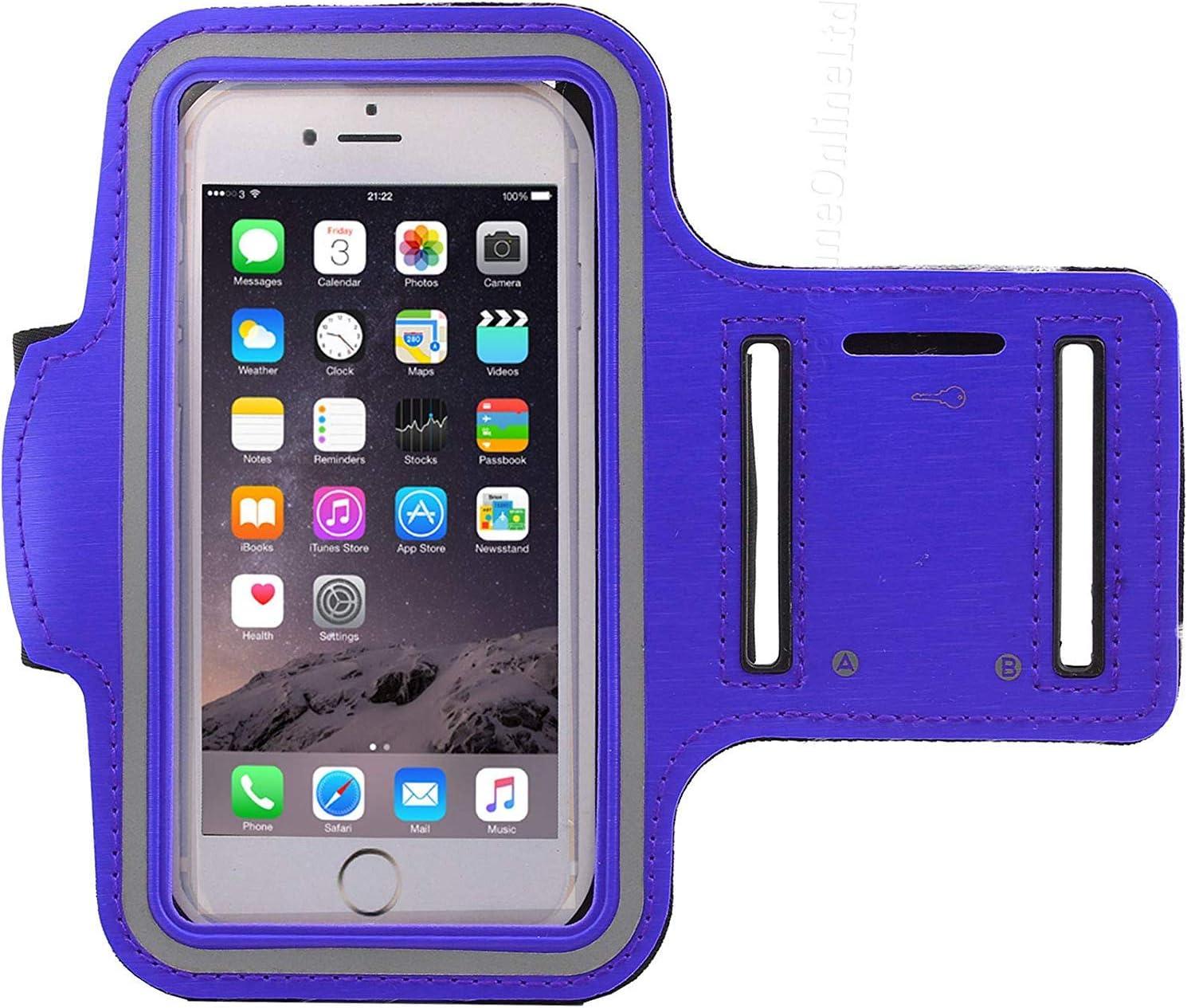 Universel Portable Support Sueur Resistant Course Sport Musculation Gym Brassard pour Samsung Galaxy A10 ou Tout /Écran Entre 6.0-6.3 Pouce DOT Porte-Cl/és Bleu Sangle R/églable