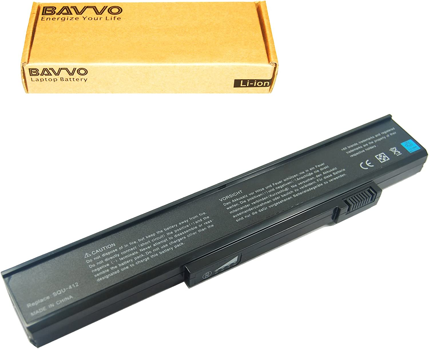 Bavvo Battery Compatible with Gateway E-475M ML6720 MT3110C MT3421 MT3423 MT6017 MT6456 MT6458 MT6704 MT6706 MT6709 MT6711 MX6025 MX6028
