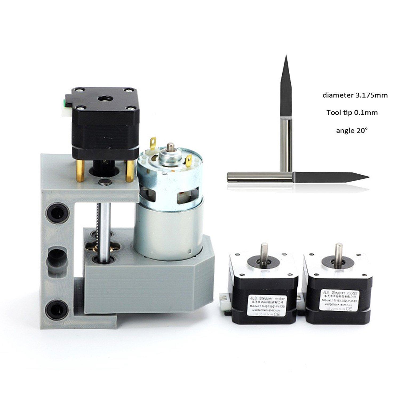 3 Achsen PCB Fr/äsmaschine mit ER11 und 5mm Verl/ängerungsstange Holz Router Stecher mit Offline-Controller Upgrade-Version CNC 1610 Pro GRBL Steuerung DIY Mini CNC-Maschine