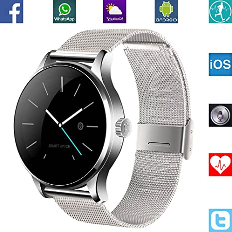 BANAUS B4 Newest SmartWatch with Bluetooth 4.0 Support Heart Rate Monitor for Android Samsung Galaxy S7/S8/S9/S10 Note7/Note8/Note9/Note10 Huawei and ...